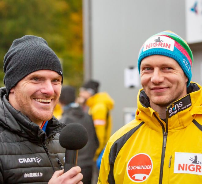 Maximilian Arndt, Johannes Friedrich - Startwettkampf Oberhof